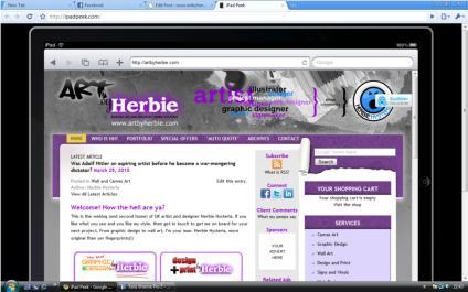 ArtbyHerbie.com on the iPad