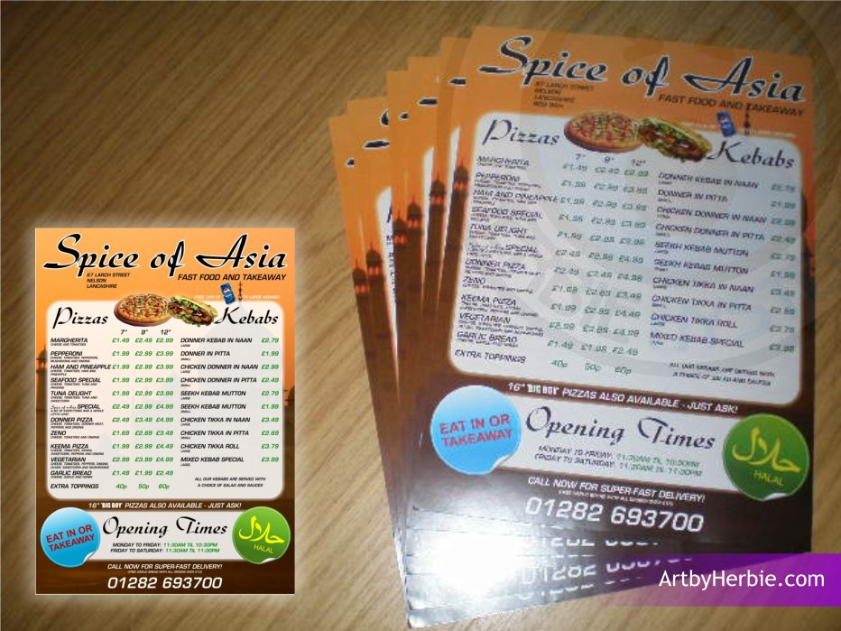 Spice Of Asia Menu
